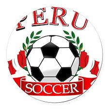 PERU Round Car Magnet