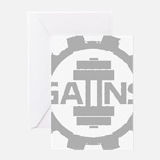 GAIINS Cog Logo Grey Greeting Card