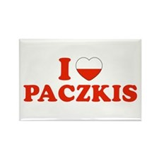 I Heart / Love Paczkis Rectangle Magnet