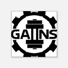 "GAIINS Cog Logo Black Square Sticker 3"" x 3"""
