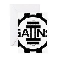 GAIINS Cog Logo Black Greeting Card