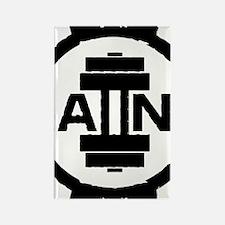 GAIINS Cog Logo Black Rectangle Magnet