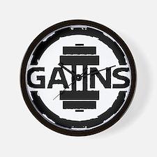 GAIINS Cog Logo Black Wall Clock