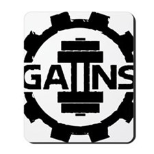 GAIINS Cog Logo Black Mousepad