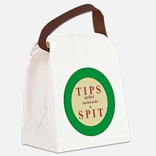 Button-Large Canvas Lunch Bag