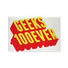 Geeks 100ever Rectangle Magnet