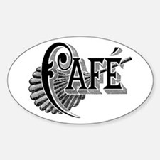 Cafe Oval Decal