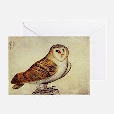 Vintage Barn Owl Greeting Card