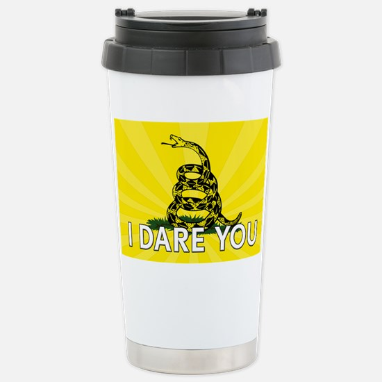 I DARE YOU to tread on Me Stainless Steel Travel M