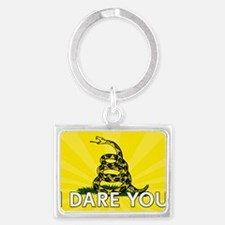 I DARE YOU to tread on Me Landscape Keychain