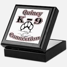 Quincy K-9 Connection Logo Keepsake Box