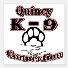 "Quincy K-9 Connection Lo Square Car Magnet 3"" x 3"""