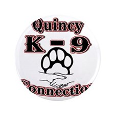 "Quincy K-9 Connection Logo 3.5"" Button"