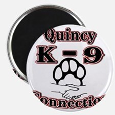 Quincy K-9 Connection Logo Magnet