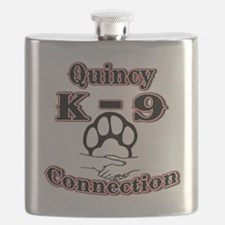 Quincy K-9 Connection Logo Flask