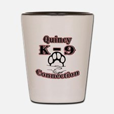 Quincy K-9 Connection Logo Shot Glass