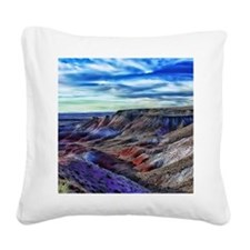 painted desert Square Canvas Pillow