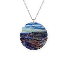 painted desert Necklace Circle Charm