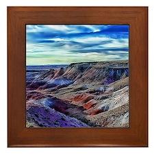painted desert Framed Tile