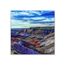 "painted desert Square Sticker 3"" x 3"""