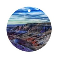 painted desert Round Ornament
