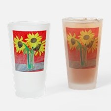 Sunflower Vase Drinking Glass
