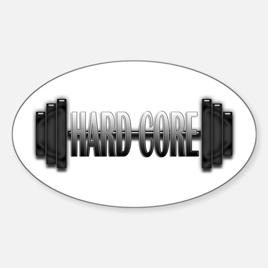 Hard Core Oval Decal