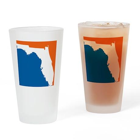 Florida Colors (Gators) Drinking Glass