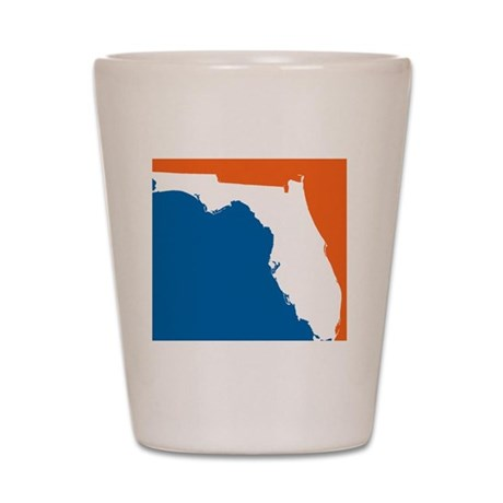 Florida Colors (Gators) Shot Glass