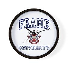 FRAME University Wall Clock