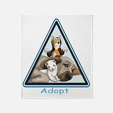 Adopt Animals Throw Blanket