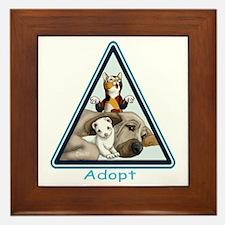 Adopt Animals Framed Tile