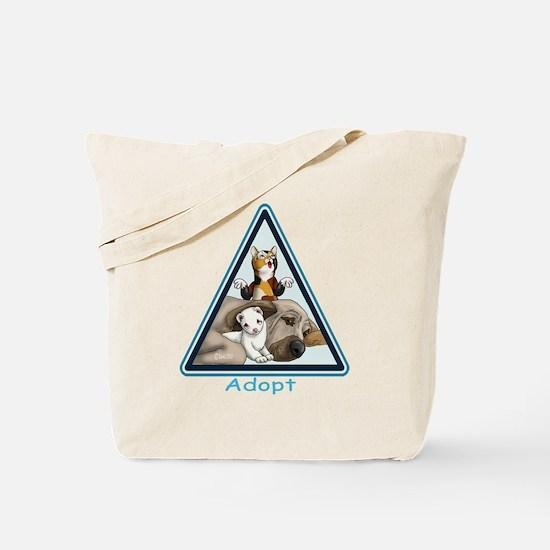 Adopt Animals Tote Bag