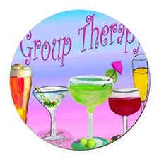 Group Therapy Round Car Magnet
