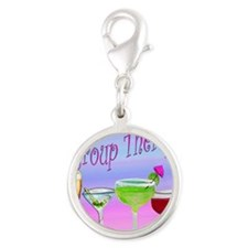 Group Therapy Silver Round Charm