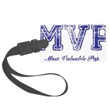Most Valuable Pop – MVP - Violet Luggage Tag