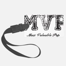 Most Valuable Pop – MVP – Black Luggage Tag