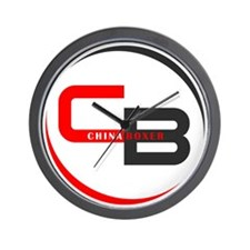 CB logo on white Wall Clock