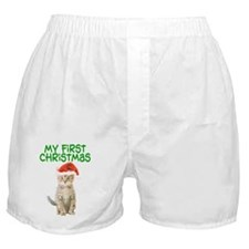 My First Christmas Boxer Shorts