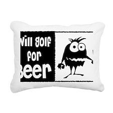 Will Golf for Beer Rectangular Canvas Pillow