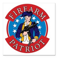 "FirearmPatriot Logo Square Car Magnet 3"" x 3"""