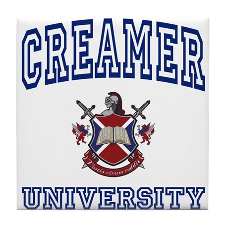 CREAMER University Tile Coaster