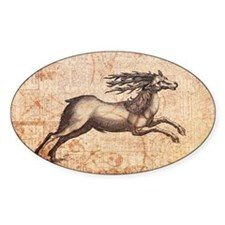 Vintage Deer Illustration Decal