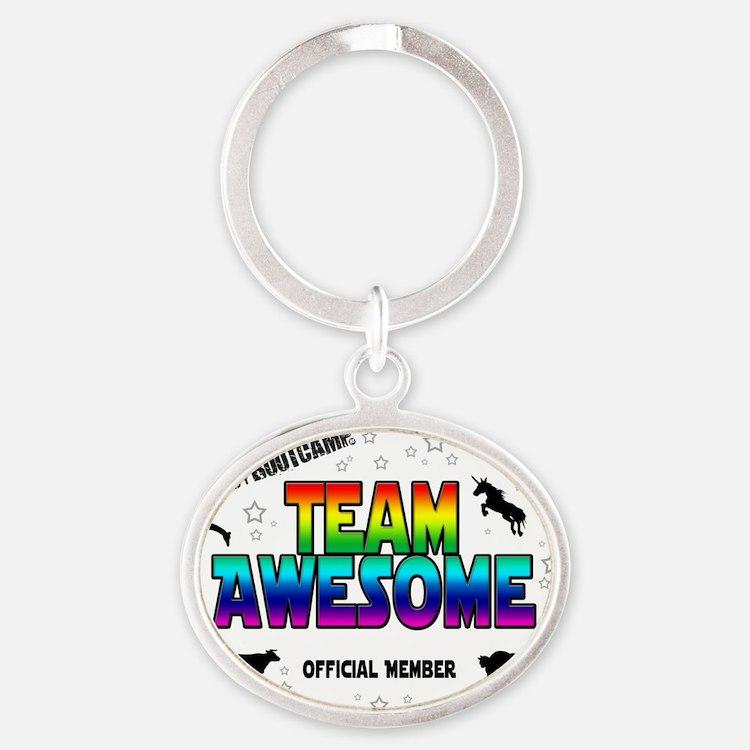 Team Awesome Oval Keychain