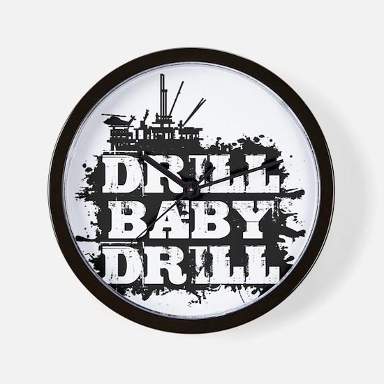 DrillBabyDrill Wall Clock