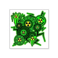 "RADIOACTIVE Square Sticker 3"" x 3"""