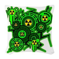RADIOACTIVE Woven Throw Pillow