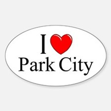 """I Love Park City"" Oval Decal"