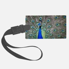 Peacock Luggage Tag