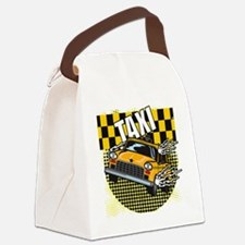 TAXI-TEE-DARK-TEE-DESIGN Canvas Lunch Bag